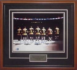 Boston Bruins Legends Autographed Frame Photo Auction