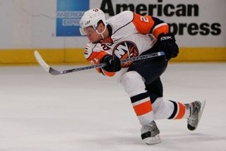Kyle Okposo Stick Out of the Hands Auction