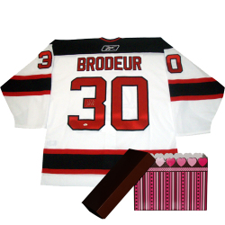 Brodeur Signed Jersey & Parise Signed Puck Auction