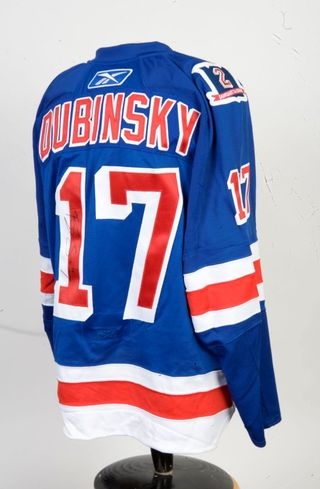 Brandon Dubinsky Game-Worn Brian Leetch Night Jersey Auction