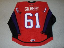 David Gilbert Game-Worn CHL Top Prospects Jersey Auction