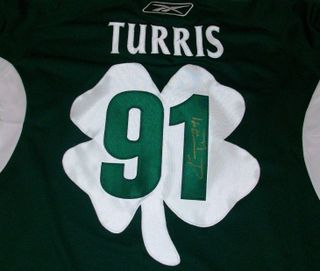 Kyle Turris Signed & Worn Jersey Auction