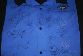 Team Signed Bowling Shirt Auction