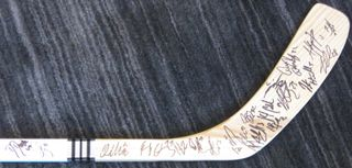 Los Angeles Kings Team Signed Stick Auction