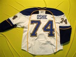 T.J. Oshie Game-Worn Jersey Auction