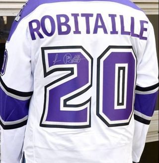 Luc Robitaille Watch Auction with Signed LA Kings Jersey