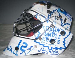 Johnny Bower Tribute Helmet Auction