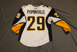 Jason Pominville Game-Worn Jersey Auction