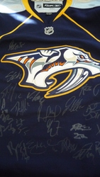 Nashville Predators Team Signed Jersey Auction