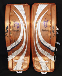 Jeff Drouin Deslauriers Signed Game-Used Pads Auction