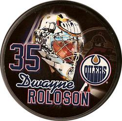 Dwayne Roloson Edmonton Oilers Puck Auction