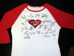Hurricanes Team Signed Foundation Shirt Auction