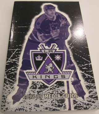 LA Kings Media Guide Auction