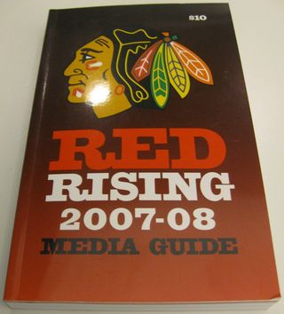 Chicago Blackhawks Media Guide Collection Auction