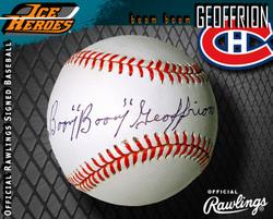Bernie Geoffrion Signed Baseball Auction