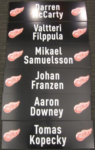 Detroit Red Wings Media Nameplates Auction