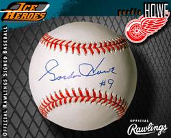 Gordie Howe Signed Baseball Auction