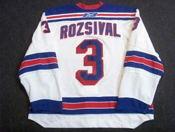 Michal Rozsival Game-Worn Jersey Auction
