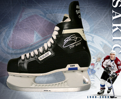 Sakic Signed Skate Auction