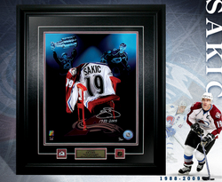 Sakic Signed Framed Image
