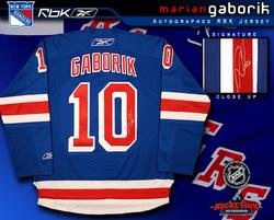 Gaborik Signed Jersey Auction