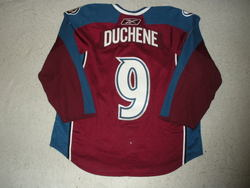 Duchene Worn Sakic Night Jersey Auction