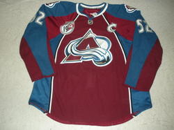 Foote Worn Sakic Jersey Auction