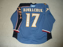 Kovalchuk Game-Worn Jersey Auction