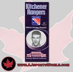 Kitchener Rangers Game Program Auction