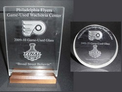 Game-Used Wachovia Center Glass Auction