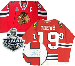 Toews Stanley Cup Patch Signed Jersey Auction