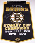 Gerry Cheevers Signed Banner Auction
